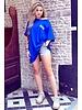 Oversized Flash T-shirt - Kobalt