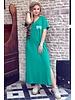 V Neck Flash Dress - Green