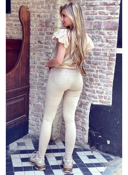 Shirley Push Up Jeans - Beige