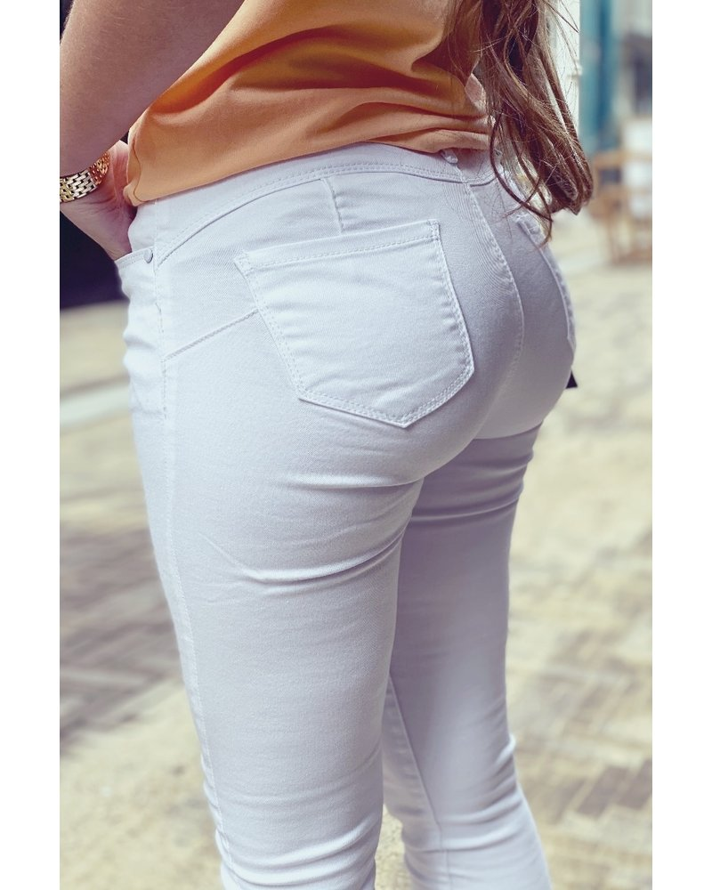 Shirley Push Up Jeans - White