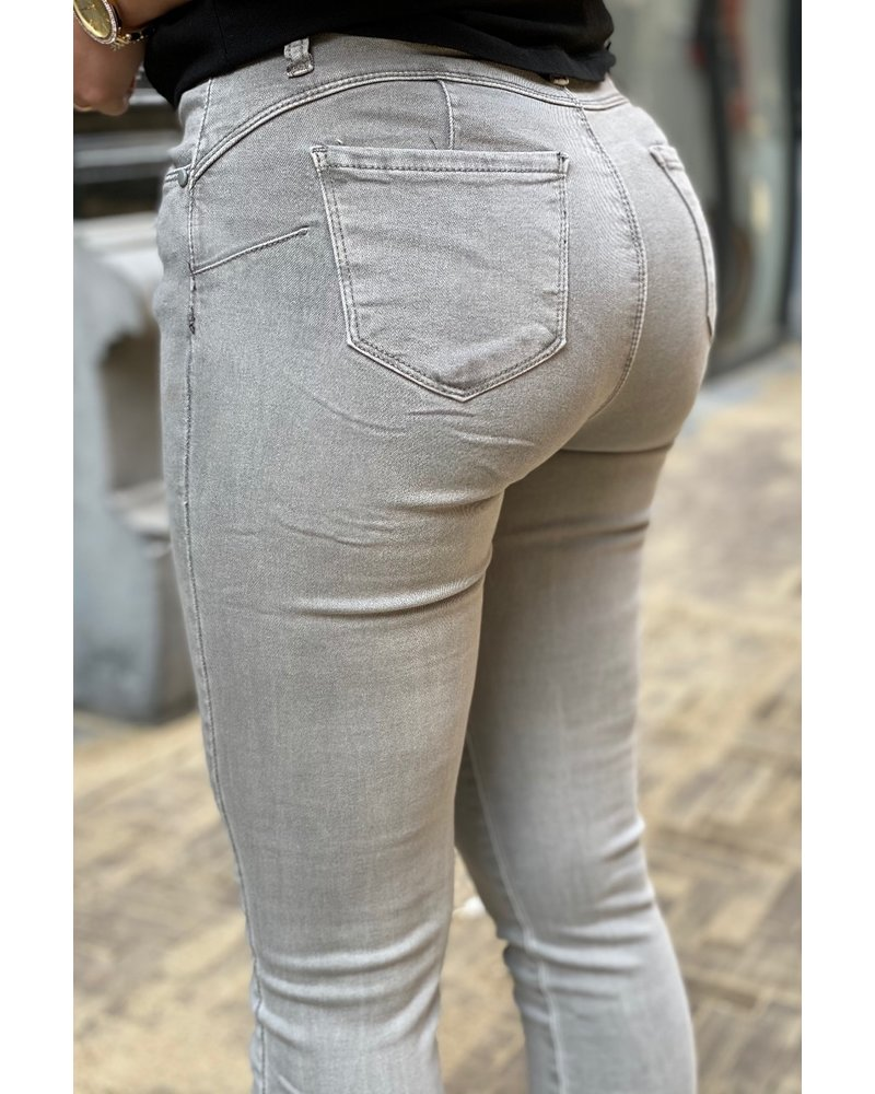 Shirley Push Up Jeans - Grey