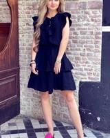Fien Ruffle Dress - Black