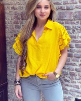 Oversized Lace blouse - Oker
