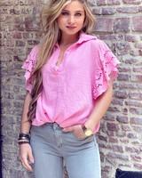 Oversized Lace blouse - Light Pink