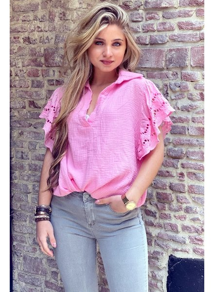Oversized Lace blouse - Light Pink