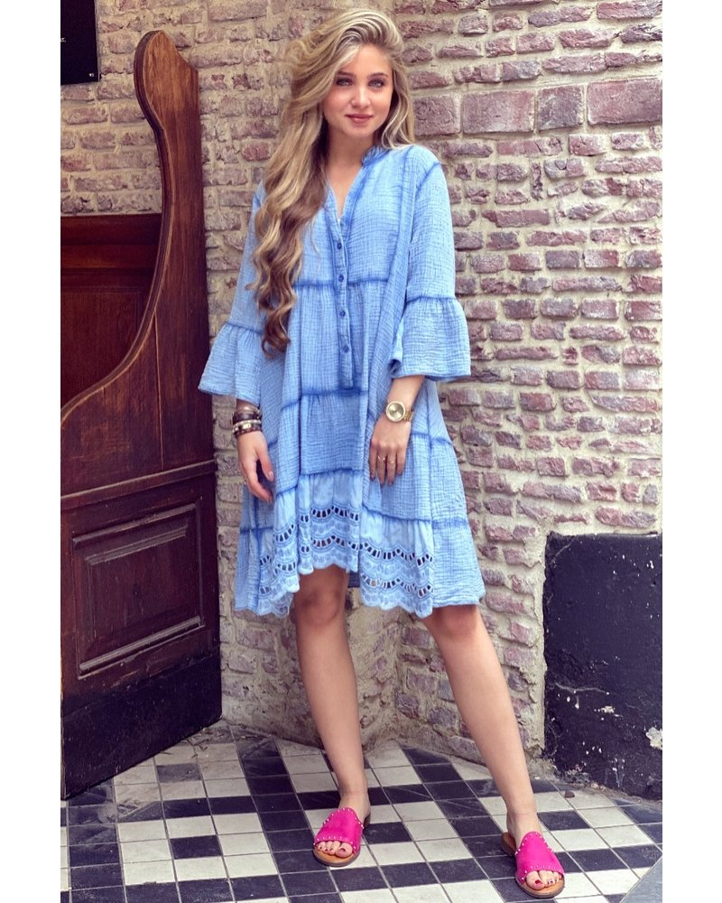 Suze Short Dress - Blue