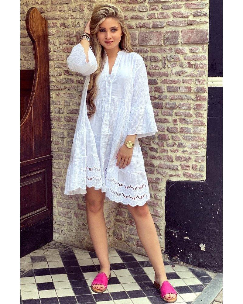 Suze Short Dress - White