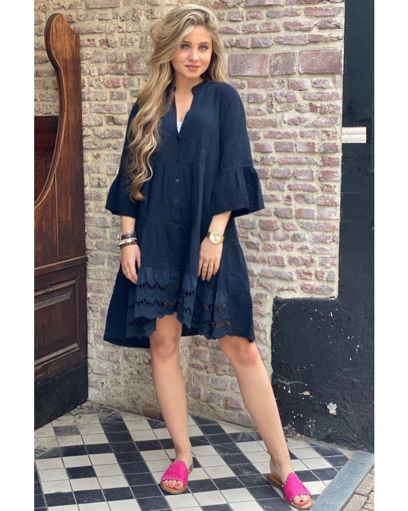 Suze Short Dress - Black