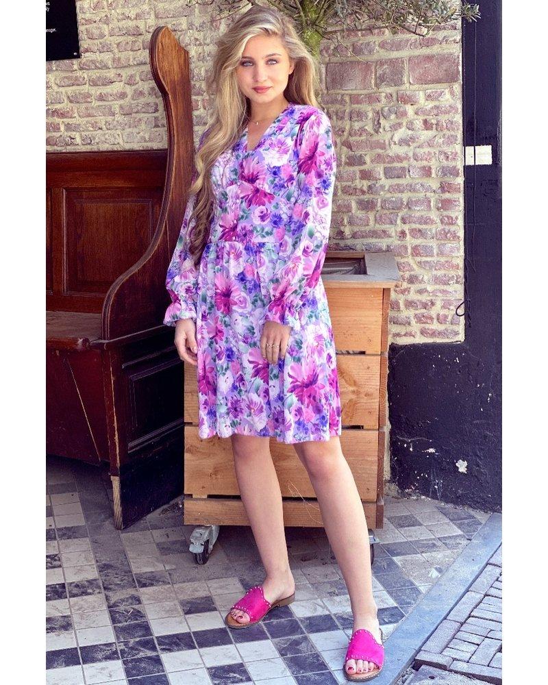 Charlotte Flower Dress -Lilac