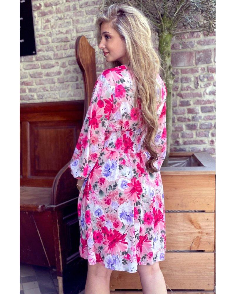 Charlotte Flower Dress - Pink