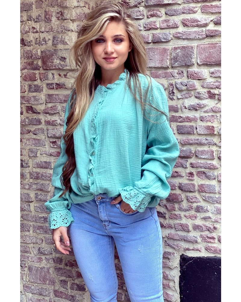 Mae Blouse - Turquoise