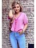 Estelle Short Sleeve Blouse - Pink