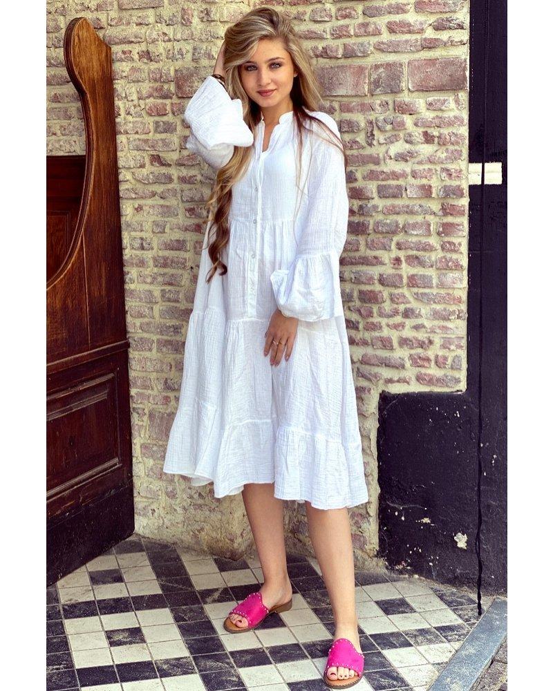 Saar Dress - White