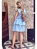 Fien Ruffle Dress - Blue