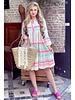 Noor Short Aztec Dress - Turquoise / Pink