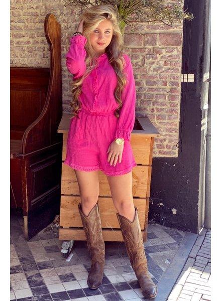 Maartje Ruffle Jumpsuit - Pink