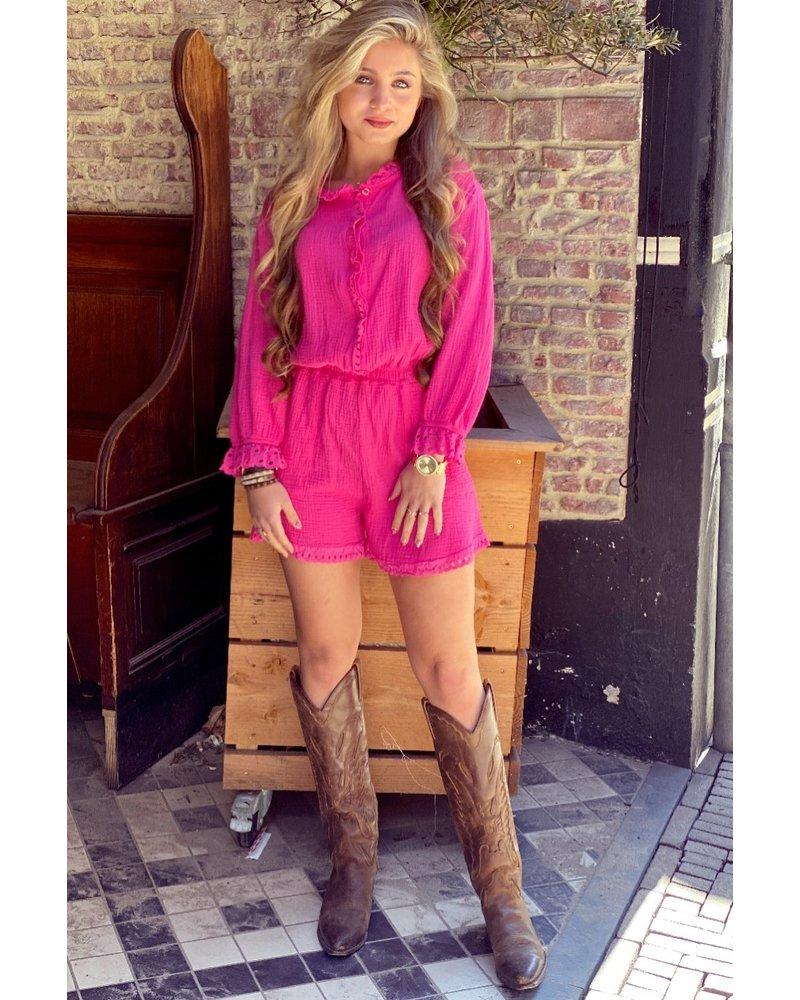 Maartje Rufffle Jumpsuit - Pink