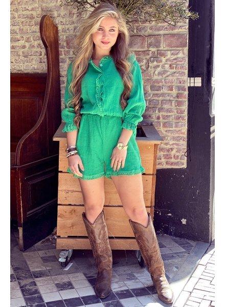 Maartje Ruffle Jumpsuit - Green
