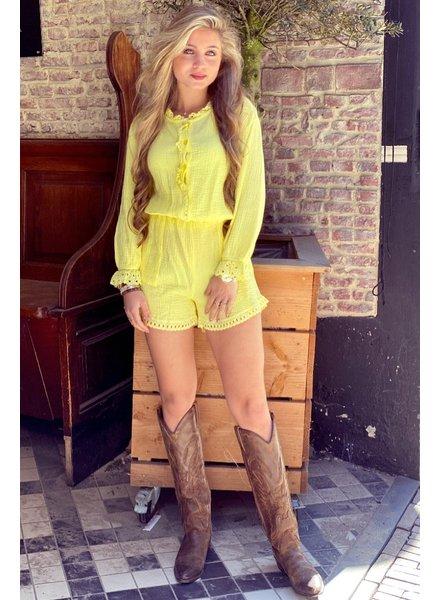 Maartje Ruffle Jumpsuit - Yellow