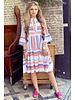 Noor Short Aztec Dress - Orange / Purple