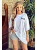 Oversized Flash T-shirt - White