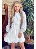 Blake Embroidered Dress - White