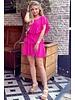 Jane Ruffle Dress - Fuchsia