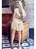 Jane Ruffle Dress - Light Camel