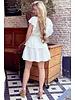 Jane Ruffle Dress - White