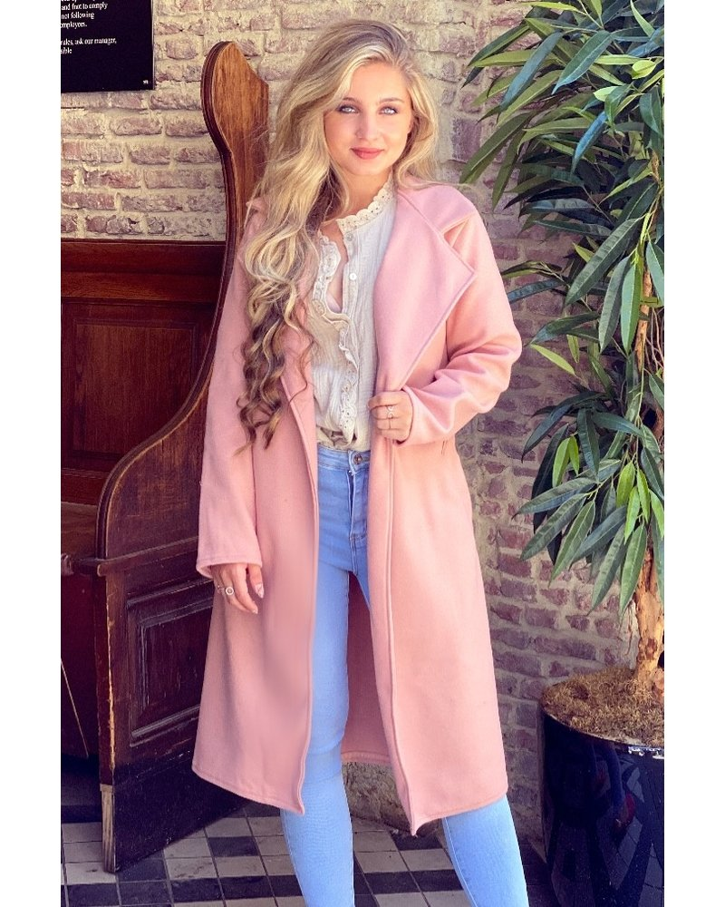 Poppy Parisian Coat - Light Pink