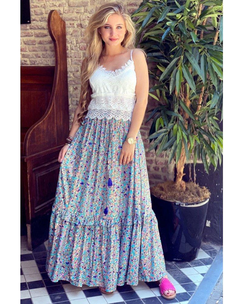 Roos Maxi Skirt - Blue