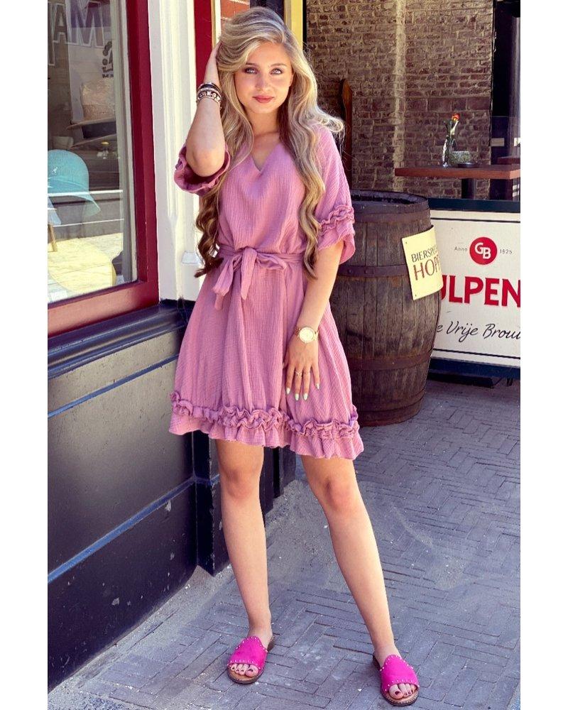 Fleur Dress - Old Pink