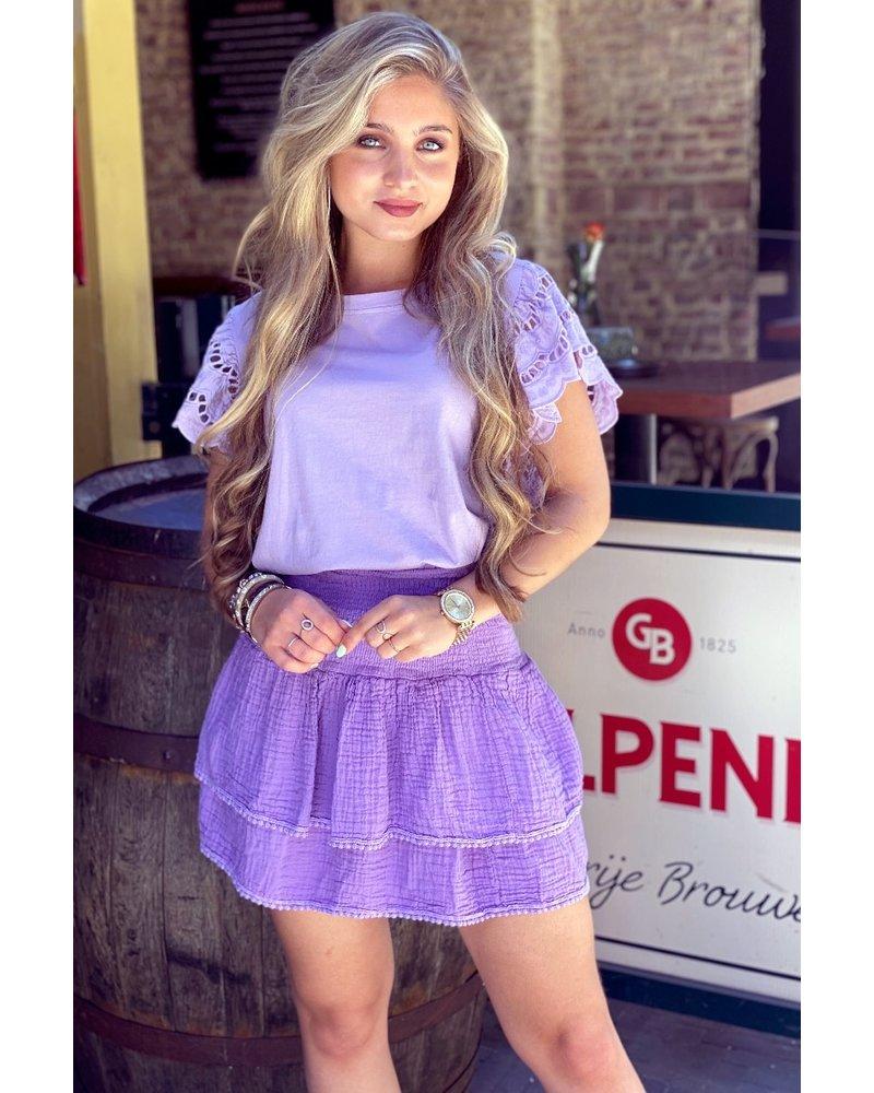 Isabel Ruffle Skirt - Purple