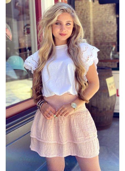 Isabel Ruffle Skirt - Light Pink