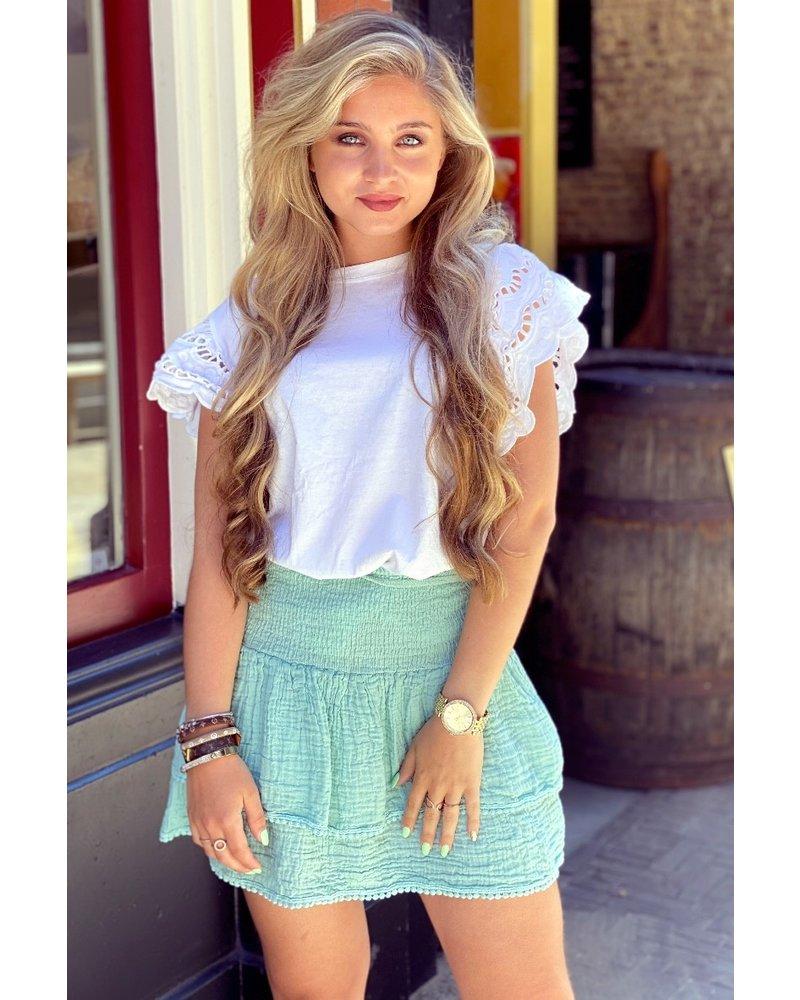 Isabel Ruffle Skirt - Turquoise