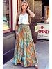 Amber Maxi Skirt - Turquoise/ Orange
