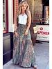 Amber Maxi Skirt - Brown/ Blue /Pink