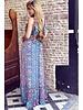 Chayenne Maxi Dress - Kobalt /Red/Mint