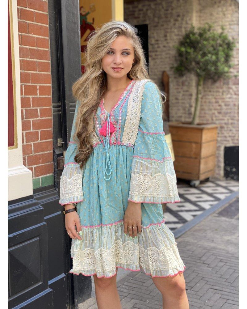 Bohemian Summer Dress - Turquoise