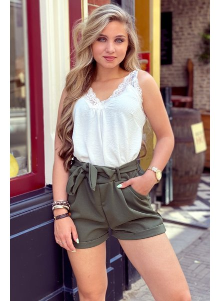 Perfect Lace Top- White