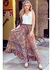 Jocelyn Skirt - Navy/Orange/Pink