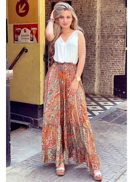 Jocelyn Skirt - Orange/Green