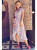Fallon Leopard Ruffle Dress - Light Pink/Blue