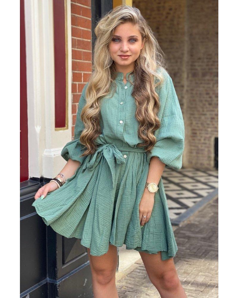 Mandy Dress - Army Green
