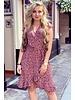 Fenne Short Cheetah Dress - Pink/Black