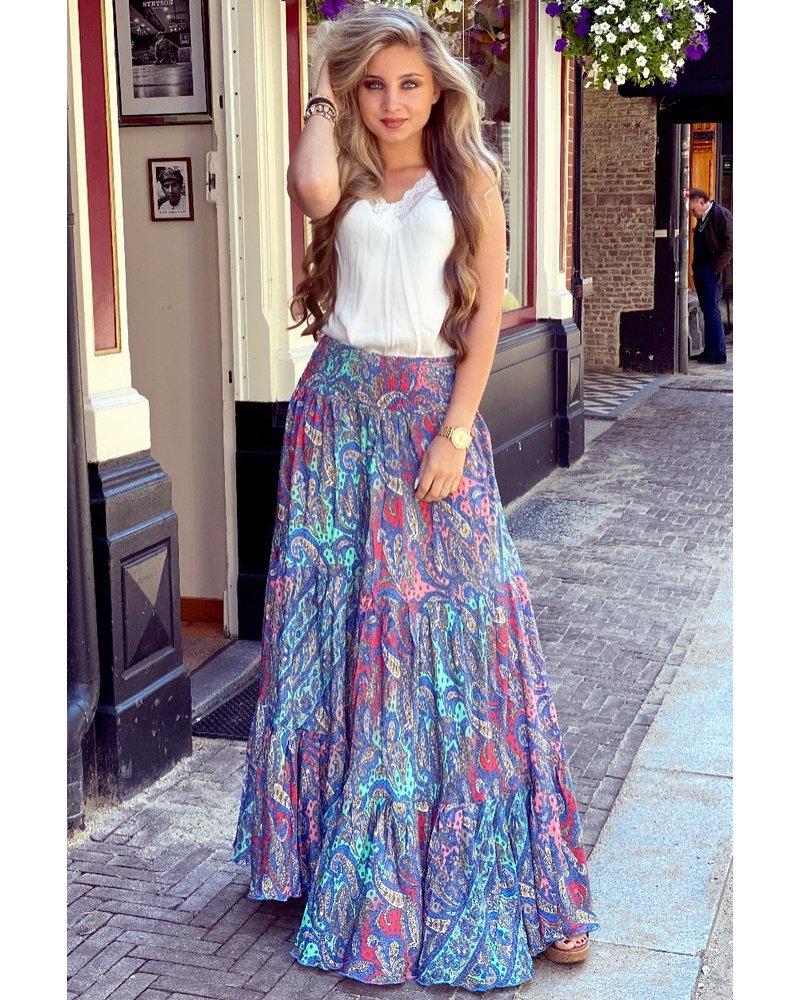 Amber Maxi Skirt - Red/Blue/Turquoise/Pink