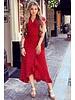 Spanish  Cheetah Dress - Red/Black