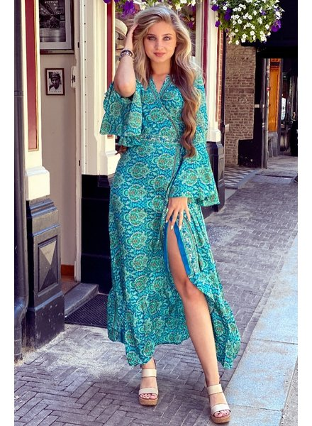 Indian Summer Dress - Turquoise/Petrol