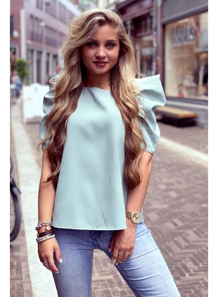 Puffy Sleeve Top - Mint