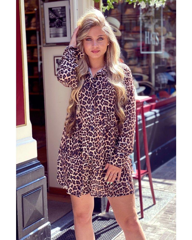 Leopard Printed Tunique - Brown/Black